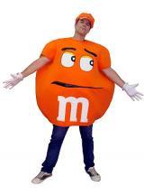 fantasia de MM laranja