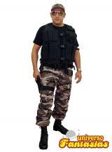 fantasia de Policial Camuflado Cinza