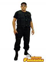 fantasia de Policial Preto