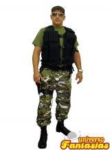 fantasia de Policial Camuflado Verde