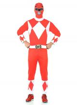 fantasia de Power Rangers vermelho