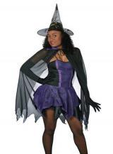 fantasia de Bruxa Roxa