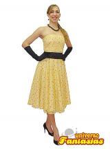 fantasia de anos 60 florida e amarela