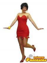 fantasia de Betty Boop - Vermelho