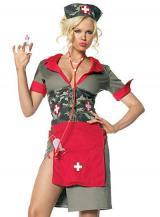 fantasia de Enfermeira Exército