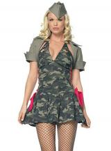 fantasia de Militar Camuflada Sexy