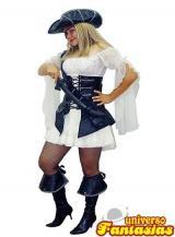 fantasia de Pirata de Couro Luxo