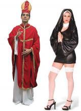 fantasia de Papa e Freira