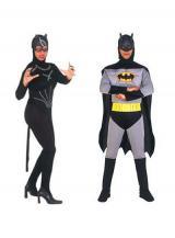 fantasia de Batman e Mulher Gato