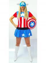 fantasia de Capitã América