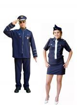 fantasia de Comandante e Aeromoça