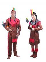 fantasia de Casal Indios Americanos