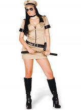 fantasia de Policial Bege Sexy