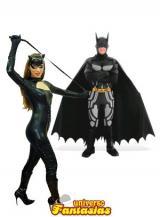 fantasia de Batman e Mulher Gato Luxo
