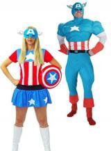 fantasia de Capitão e Capitã America