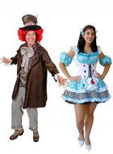 fantasia de Chapeleiro Maluco e Alice